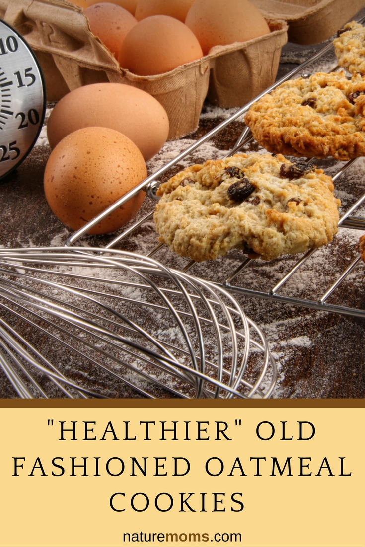 Healthier Old Fashioned Oatmeal Cookies