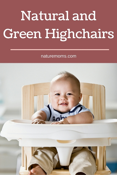 Natural and Green Highchairs pin