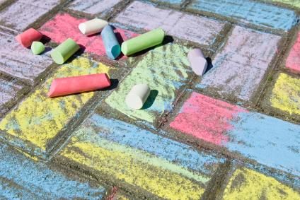 Sidewalk Chalk   Tiny Seedlings