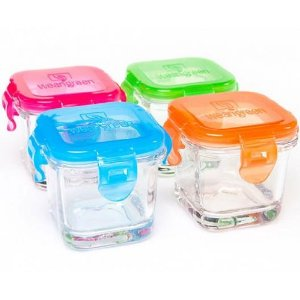 Wean Green Glass Cubes Baby Food Containers!