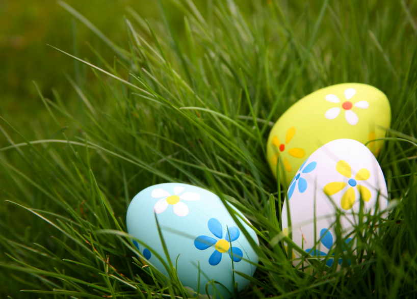 Painted Easter Eggs Nature Moms