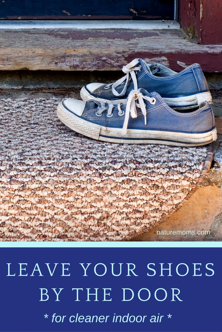 leave shoes by door cleaner indoor air