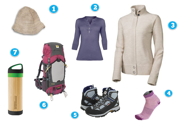 Backpacking clothes for women