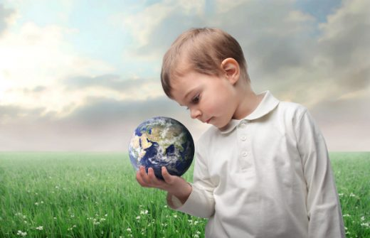 Child Holding the Earth in His Hands