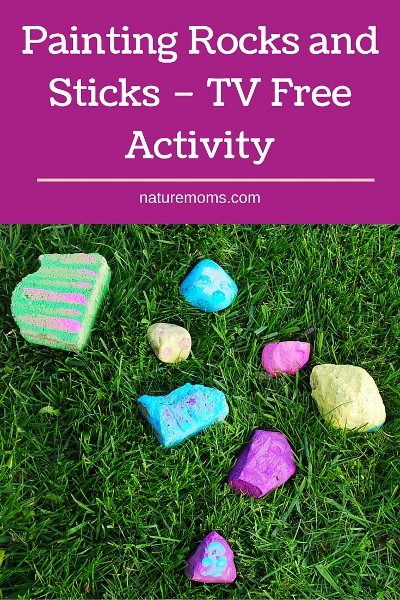 Painting Rocks and Sticks TV Free Activity