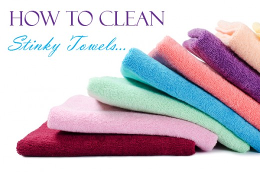 Stinky towels and how to clean them without harsh chemicals