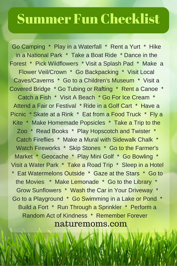 Summer Fun Checklist