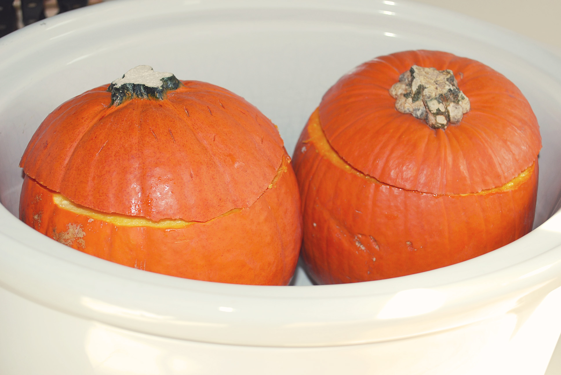 Slow Cooker Pumpkins for Puree