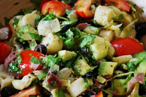 avocado, artichokes, and palm hearts salad