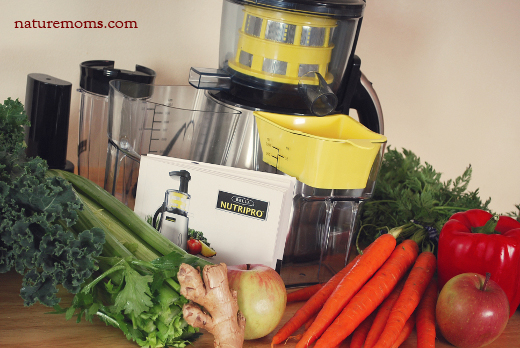 nutripro juicer and veggies sm