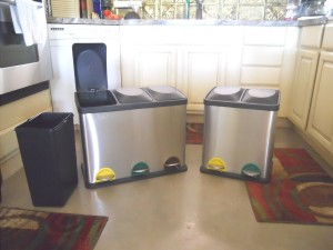 triple bin recycling can