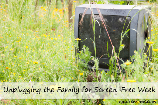 unplugging for screen free week