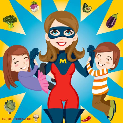 Super Hero Mom in the Kitchen