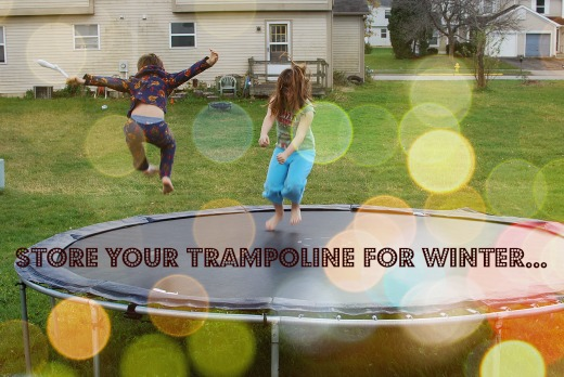 store trampoline for winter