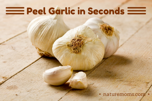 peel garlic  in seconds