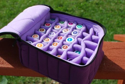 Essential Oil Carrier Case  - Purple
