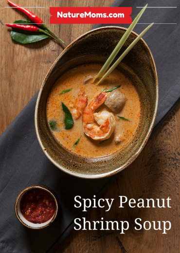 spicy peanut shrimp soup