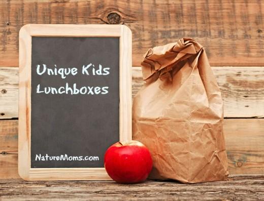 school lunch over blank blackboard