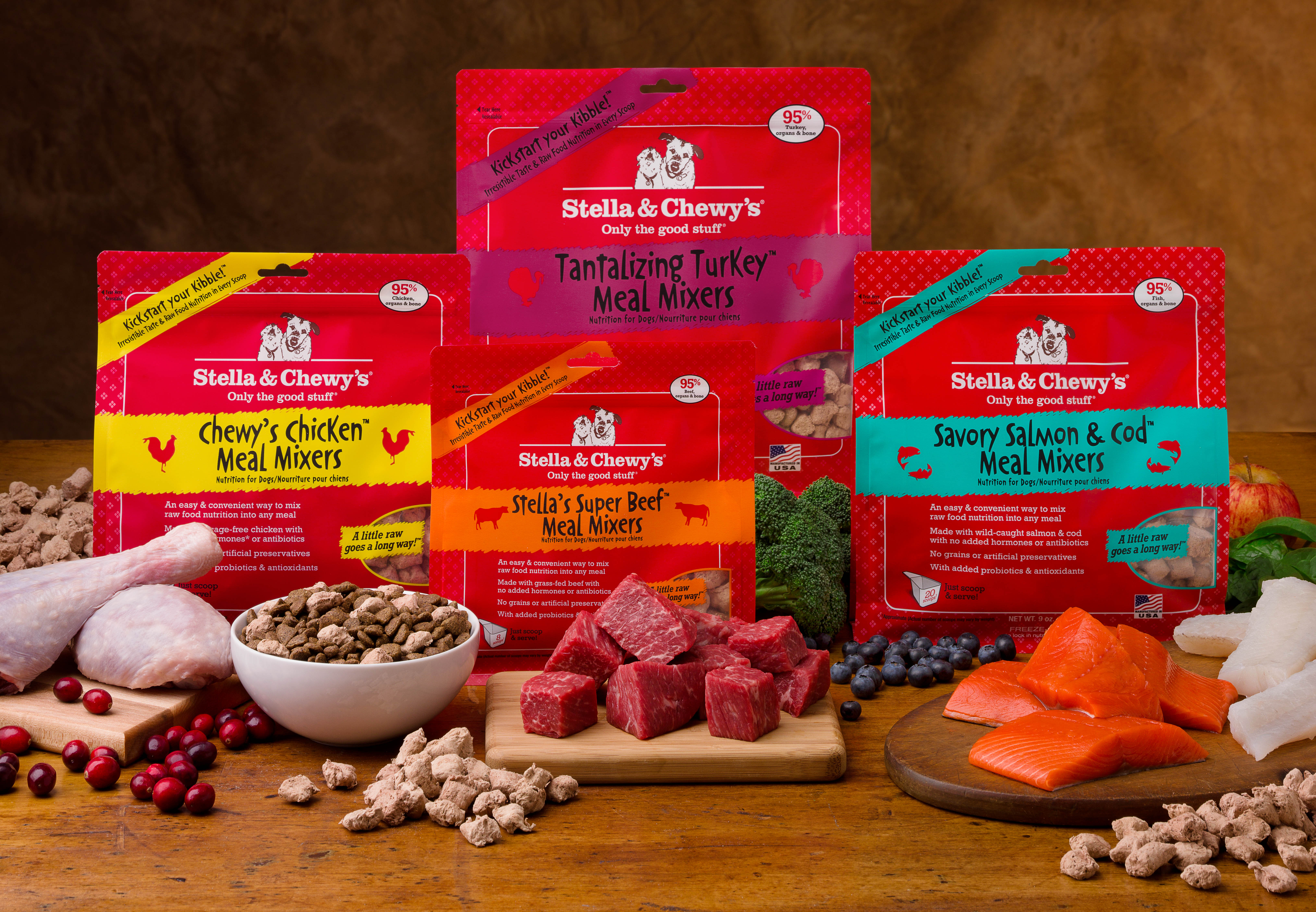 stellas raw dog food