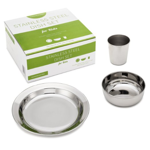 stainless dinnerware for kids