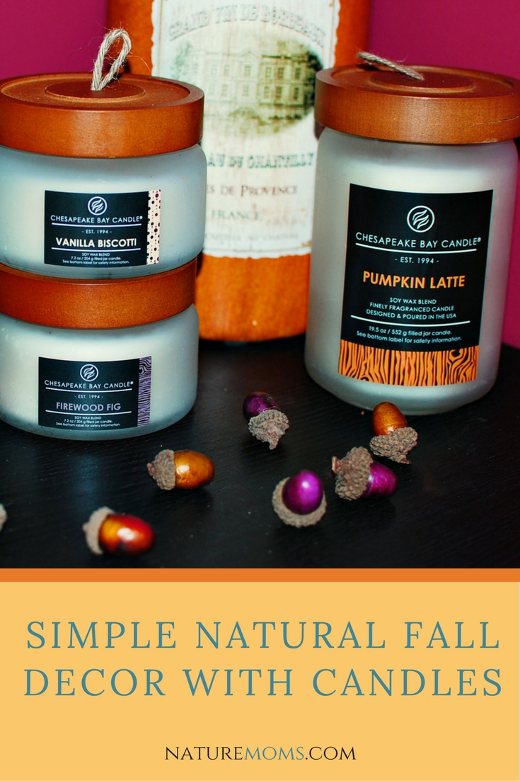 Simple Natural Fall Decor with Candles