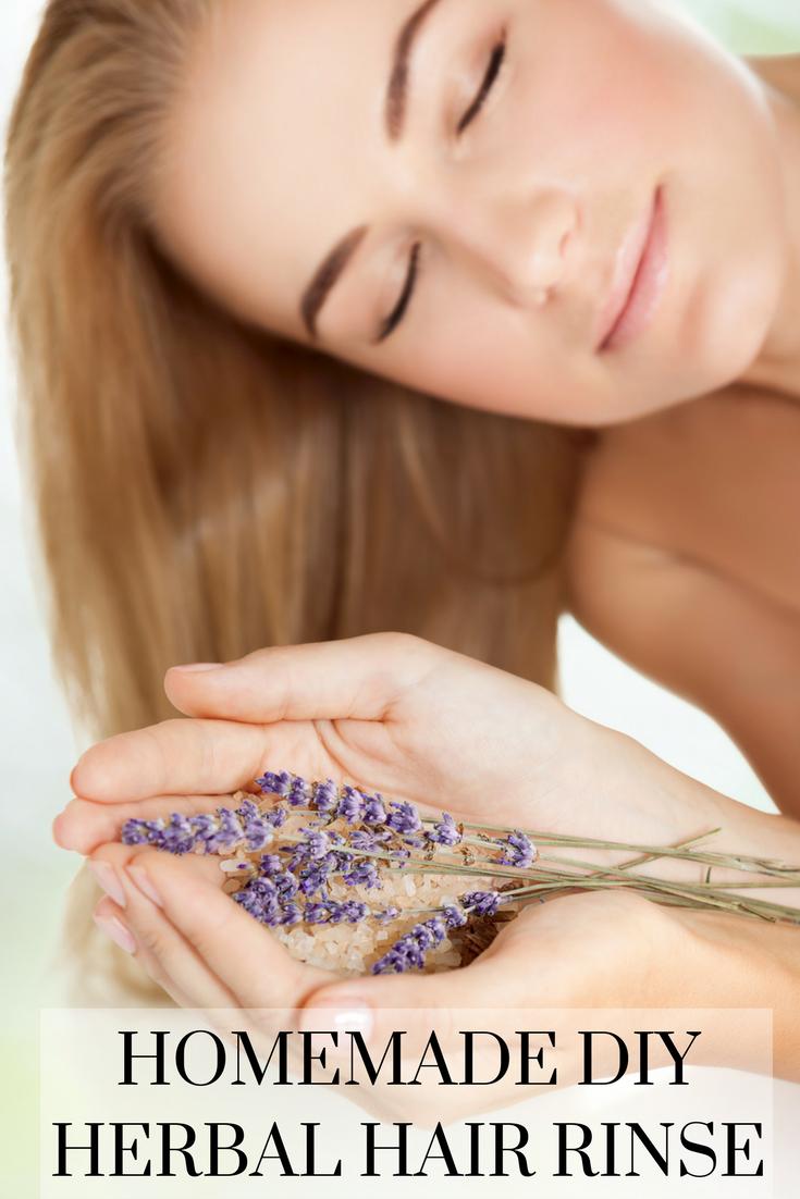 DIY Herbal Hair Rinse