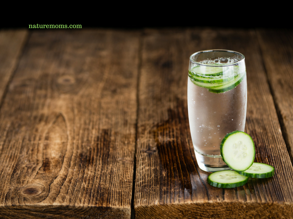 cucumber water for your home spa shower