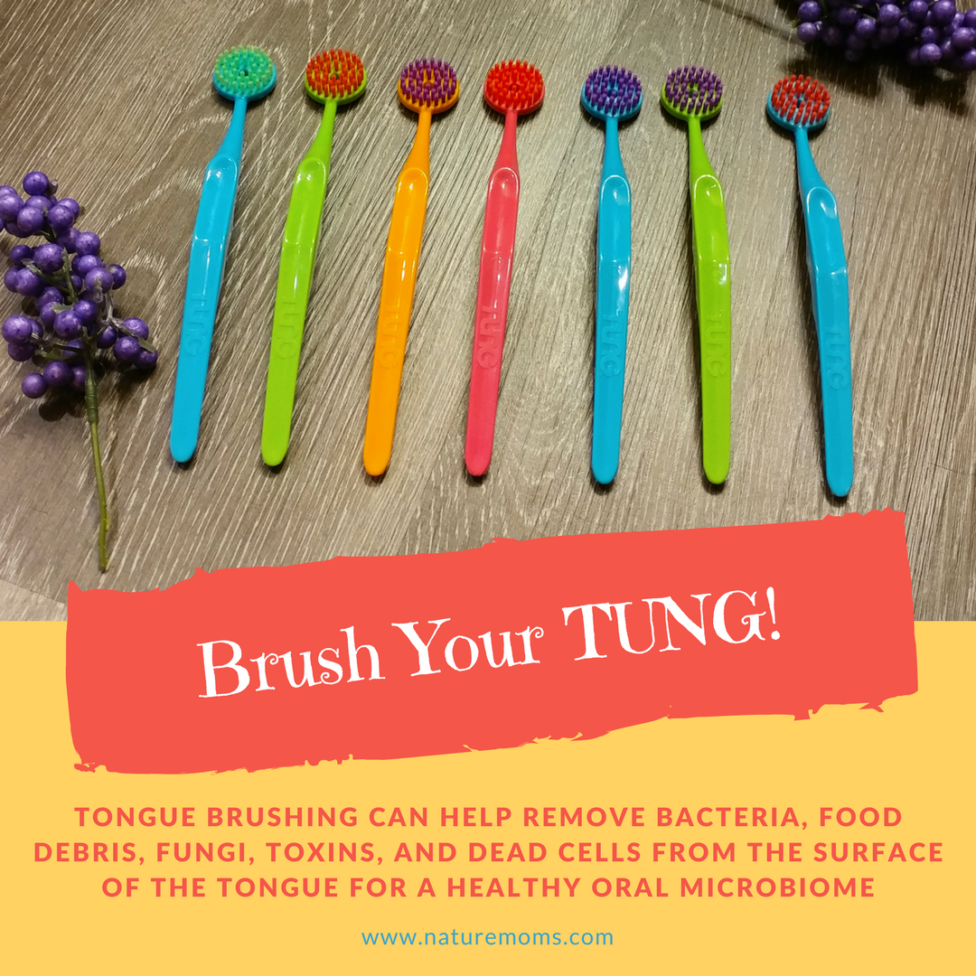 brushing your tongue for healthy microbiome
