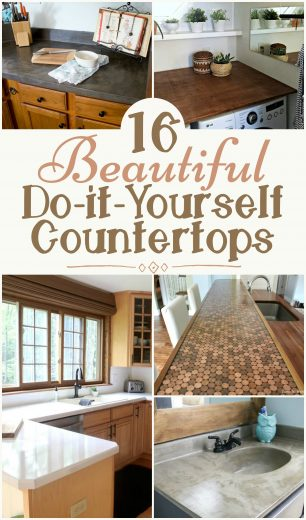 16 Beautiful And Affordable Do It Yourself Countertops
