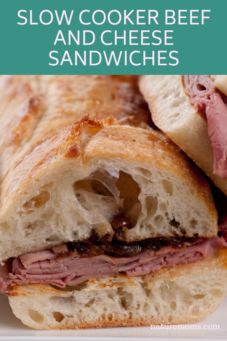 Slow Cooker Beef and Cheese Sandwiches