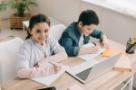 Homeschool work for two children